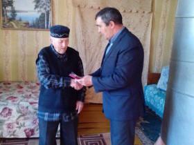 Вручение медали ветерану